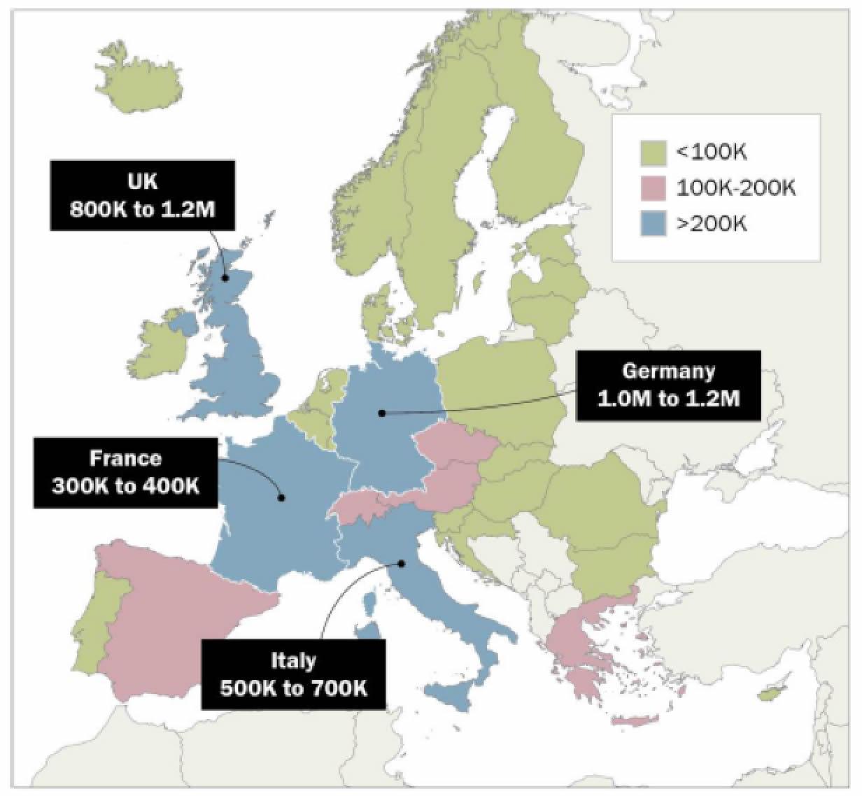 La migrazione irregolare in Europa (sintesi)